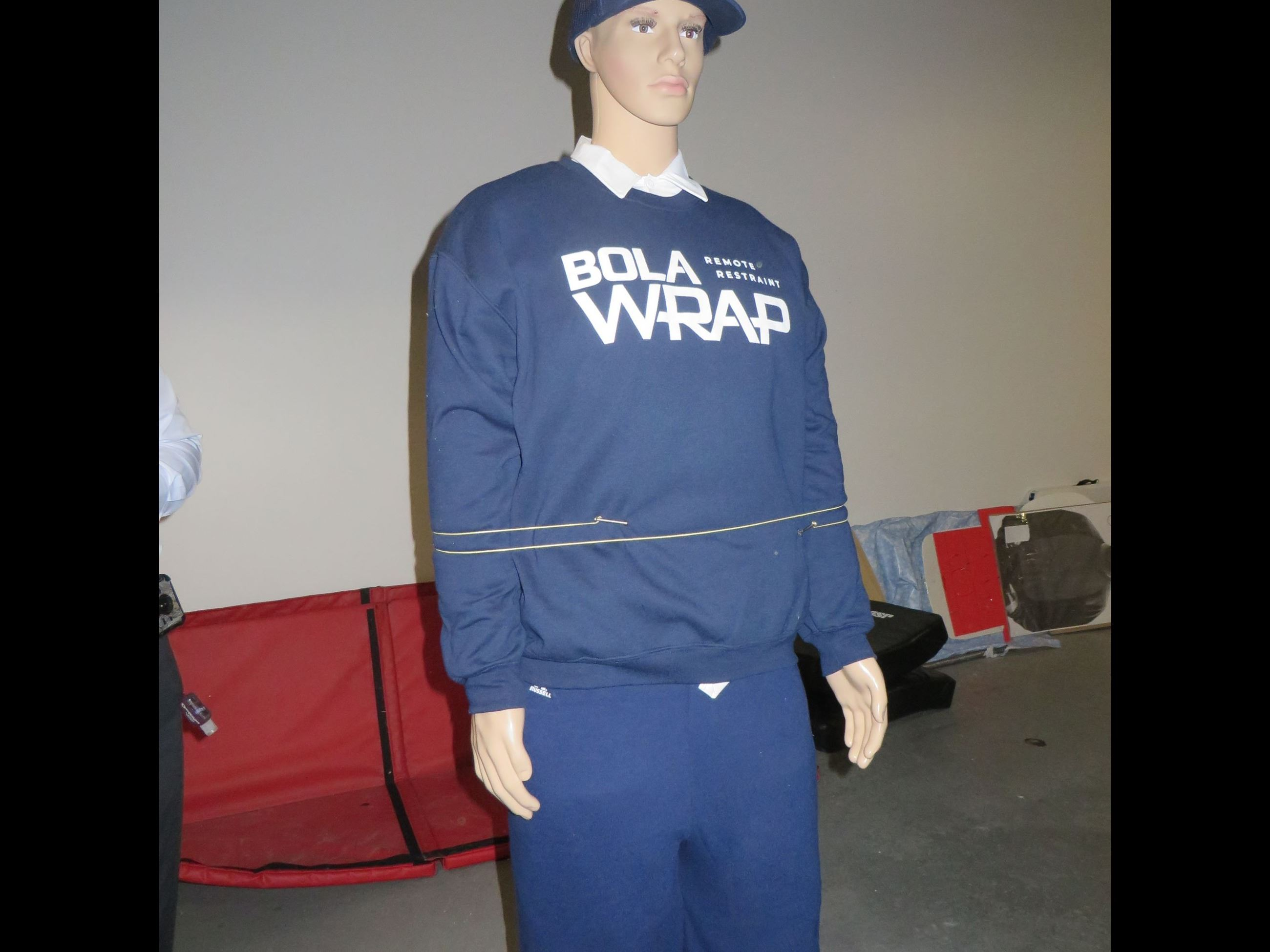 Mannequin with wrap